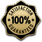 100% Satisfaction Guarnateed